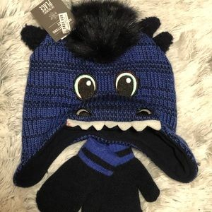CUTE HAT & MITTENS set 2to 6 years Childrens  05